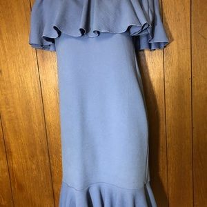 LuLaRoe waffle texture blue Cici dress XS EUC